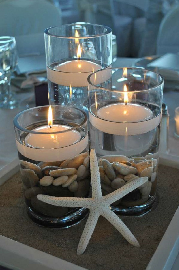Centerpiece With Sand Easy Craft Ideas
